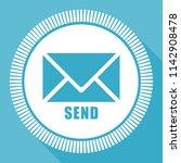 send e mail blue flat design... | Shutterstock .eps vector #1142908478