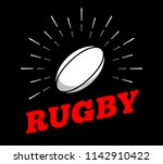 vector rugby football sport... | Shutterstock .eps vector #1142910422