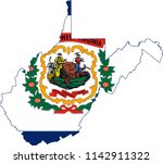 west virginia state flag seal... | Shutterstock .eps vector #1142911322