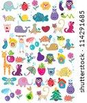 pattern zoo | Shutterstock .eps vector #114291685