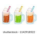 cartoon soda ice cream floats... | Shutterstock .eps vector #1142918522