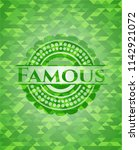 famous green emblem with mosaic ... | Shutterstock .eps vector #1142921072