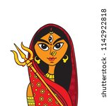 creative indian religious... | Shutterstock .eps vector #1142922818