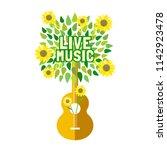 template for musical poster ...   Shutterstock .eps vector #1142923478