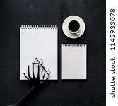 design objects flatlay with... | Shutterstock . vector #1142933078
