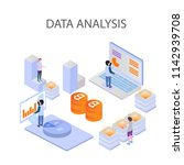 3d infographic business data...   Shutterstock .eps vector #1142939708