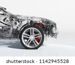 glass auto on white background..... | Shutterstock . vector #1142945528
