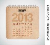 2013 Calendar May Grunge...