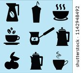 set of icons for coffeeshop. ... | Shutterstock .eps vector #1142948492