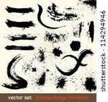 vector set. grunge design... | Shutterstock .eps vector #114294946