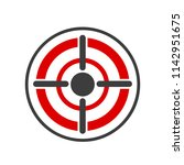icon target in flat design ... | Shutterstock .eps vector #1142951675
