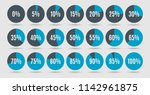 set of colorful circle... | Shutterstock .eps vector #1142961875