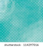 Turquoise Polka Dot Background...