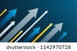 financial arrow graphs | Shutterstock .eps vector #1142970728