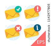 letter. envelope with document... | Shutterstock .eps vector #1142977805