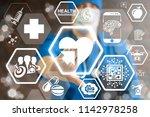 integration medical modern... | Shutterstock . vector #1142978258