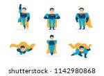 set superhero vector male... | Shutterstock .eps vector #1142980868
