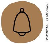 bell icon vector illustration... | Shutterstock .eps vector #1142989628