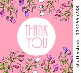 thank you cards with beautiful...   Shutterstock .eps vector #1142995238