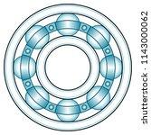 illustration of the ball... | Shutterstock .eps vector #1143000062