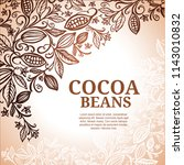 cacao beans plant  vector... | Shutterstock .eps vector #1143010832
