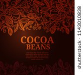cacao beans plant  vector... | Shutterstock .eps vector #1143010838