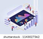 isometric design concept people ... | Shutterstock .eps vector #1143027362