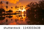 aerial  golden evening sunshine ...   Shutterstock . vector #1143033638