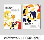 the abstract colorful... | Shutterstock .eps vector #1143035288