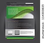 web design template | Shutterstock .eps vector #114303835