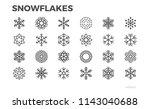 snowflakes icons. ice  snow ...