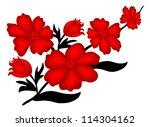elegant floral decoration for... | Shutterstock .eps vector #114304162