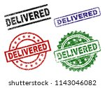 delivered seal prints with... | Shutterstock .eps vector #1143046082