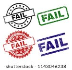fail seal prints with distress...   Shutterstock .eps vector #1143046238