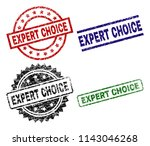 expert choice seal prints with... | Shutterstock .eps vector #1143046268