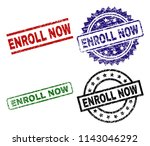 enroll now seal imprints with...   Shutterstock .eps vector #1143046292