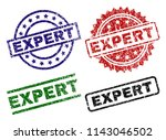 expert seal prints with damaged ... | Shutterstock .eps vector #1143046502