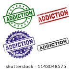 addiction seal stamps with... | Shutterstock .eps vector #1143048575