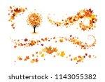 fall decor elements | Shutterstock .eps vector #1143055382