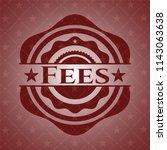 fees red emblem. vintage.   Shutterstock .eps vector #1143063638