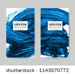 set of vector business card... | Shutterstock .eps vector #1143070772
