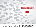 think differently concept. red... | Shutterstock .eps vector #1143080285