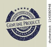 blue genuine product distressed ... | Shutterstock .eps vector #1143080948