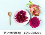 slice dragon fruit ready for... | Shutterstock . vector #1143088298
