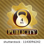 gold shiny emblem with 4kg... | Shutterstock .eps vector #1143096242