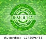 democrat green emblem with... | Shutterstock .eps vector #1143096455