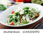 healthy chicken parmesan topped ... | Shutterstock . vector #1143103592