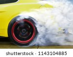 drift car motion spin rotating... | Shutterstock . vector #1143104885