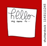 hand lettered greeting with... | Shutterstock . vector #1143111245
