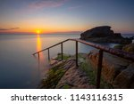 sunrise at the forty foot ... | Shutterstock . vector #1143116315